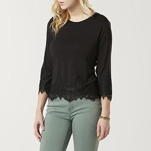 Simply styled black lace shirt